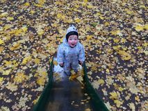 一个快乐孩子 免版税库存图片