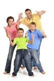 一个快乐的家庭的画象 库存图片