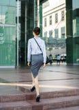 一个快乐的白色年轻亚洲职业妇女概念 免版税图库摄影