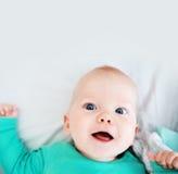 一个快乐的婴孩的画象 库存照片