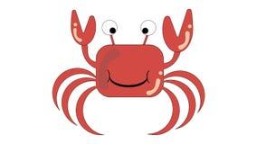 一个快活的螃蟹的传染媒介图象 动画片螃蟹 免版税图库摄影