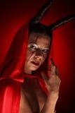 一个恶魔的画象有垫铁的 幻想 艺术剪报恶魔查出的路径项目 万圣节 免版税图库摄影