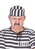 一个恼怒的囚犯的纵向 库存图片