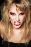 一个恼怒的女孩的纵向 免版税库存图片