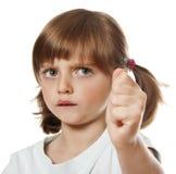一个恼怒的小女孩 库存照片