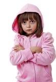 一个恼怒的小女孩 免版税库存照片