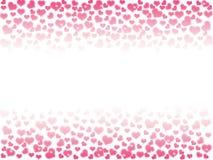 一个情人节的例证,心脏与co的bokeh背景 图库摄影