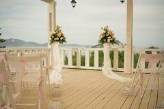 一个惊人的室外婚礼 库存照片
