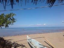 一个惊人的海滩 库存照片