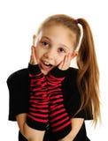 一个惊奇的庞克摇滚乐女孩的画象 免版税库存照片