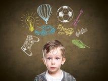 一个想法的孩子的一个概念性图象 库存图片