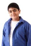 一个愉快的东印度人少年的画象 图库摄影