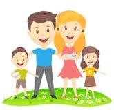 一个愉快的家庭的传染媒介图象 免版税图库摄影