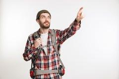 一个愉快的有胡子的人的画象 免版税库存图片