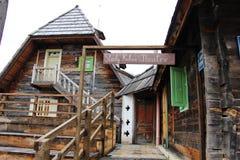 一个戏院在村庄 库存图片