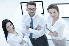 一个成功的企业小组的特写镜头 库存照片