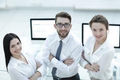 一个成功的企业小组的特写镜头 免版税库存照片