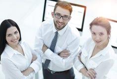 一个成功的企业小组的特写镜头 免版税库存图片