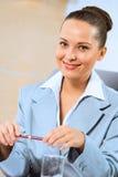 一个成功的女商人的画象 库存图片