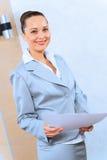 一个成功的女商人的画象 免版税库存图片