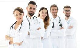 一个成功的小组的画象医生扣留 免版税图库摄影