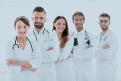 一个成功的小组的画象医生扣留 图库摄影