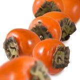 一个成熟柿子特写镜头的图象 库存照片