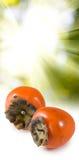 一个成熟柿子特写镜头的图象 免版税库存图片