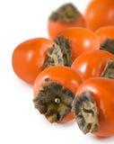一个成熟柿子特写镜头的图象 免版税图库摄影