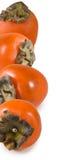 一个成熟柿子特写镜头的被隔绝的图象 库存图片