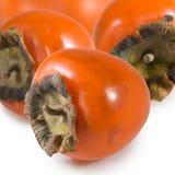 一个成熟柿子的被隔绝的图象 图库摄影