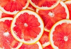 一个成熟葡萄柚切片的纹理 免版税库存照片