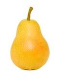 一个成熟黄色梨(被隔绝) 免版税库存照片