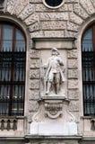 一个战士的雕塑霍夫堡宫的在维也纳 库存图片