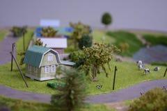 一个房子在村庄 库存照片