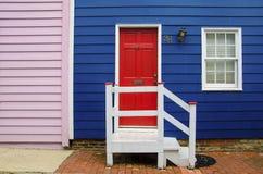 一个房子的五颜六色的门面在安纳波利斯 库存照片