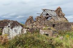 一个房子的废墟爱尔兰海岸的 免版税图库摄影