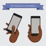 一个手机的示范显示 皇族释放例证