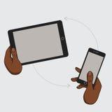 一个手机的示范显示 库存例证