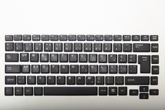 一个打字机键盘的键盘的顶上的看法 库存图片