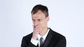 一个担心的商人 免版税库存照片