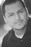 一个拉丁美州的人的Headshot 库存图片