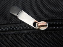 一个拉链的细节在织品的 图库摄影