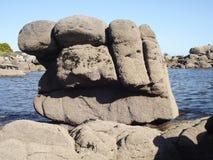 一个握紧拳头到海里 免版税图库摄影