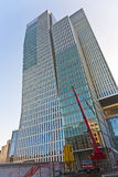一个摩天大楼的门面在法兰克福 免版税库存照片