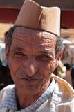 一个摩洛哥老人的画象 免版税库存图片