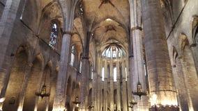 一个教会在巴塞罗那 库存照片