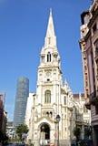 一个教会在毕尔巴鄂西班牙 免版税库存照片