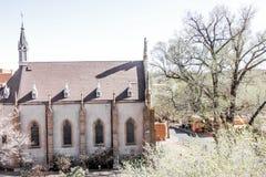 一个教会在荒地 免版税库存照片