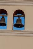 从一个教会的两响铃有天空的 免版税图库摄影
